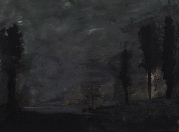 Quatre Arbres - dans un Champ solitaire - Isabelle des Charbinières